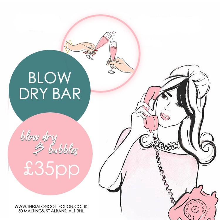 Duck and Dry St Albans, Blow-dry and Prosecco St Albans, girls party, hen party St Albans, the salon collection Maltings